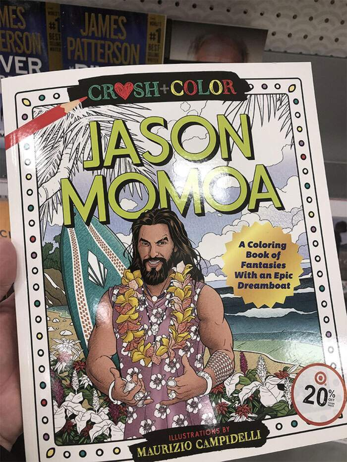 Il Libro Da Colorare Di Jason Momoa Riduce Lo Stress Ed E In