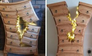 Falegname in pensione crea mobili così stravaganti che sembrano usciti da un film Disney