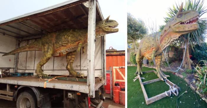 Papà si sbaglia e ordina un dinosauro di 6 metri per il figlio di 4 anni