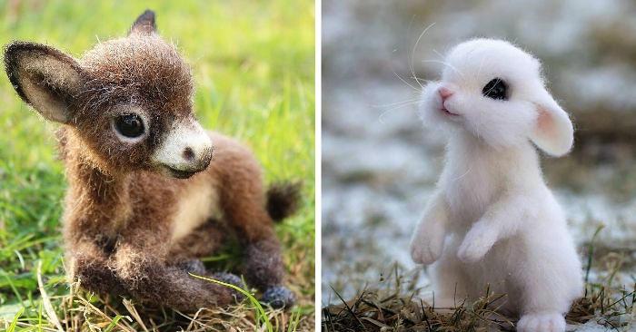 Artista russa crea animali in lana infeltrita davvero deliziosi