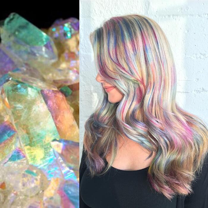 Tendenza colore capelli primavera 2020 capelli olografici
