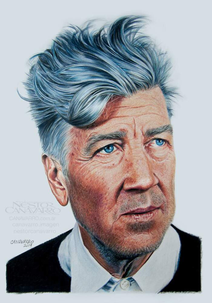 Disegni iperrealisti con matite colorate, ritratti di celebrità
