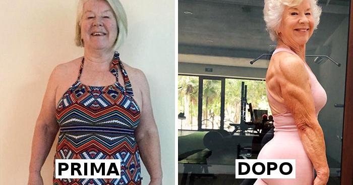 Aiuta la mamma di 73 anni a perdere oltre 20 chili e le foto del