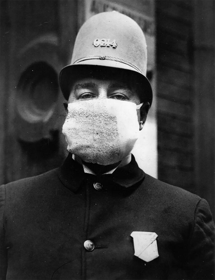 Foto d'epoca influenza spagnola