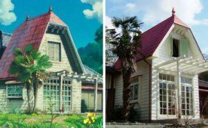 """Un'esatta replica a grandezza naturale della casa de """"Il mio vicino Totoro"""" inclusi gli interni"""