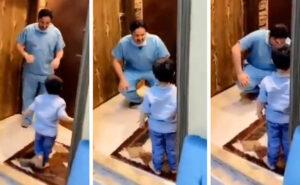 Le lacrime di un infermiere che torna a casa e non può abbracciare il figlio per paura di infettarlo