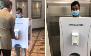 Un migrante usato come disinfettante per mani, l'idea dell'azienda più ricca del mondo