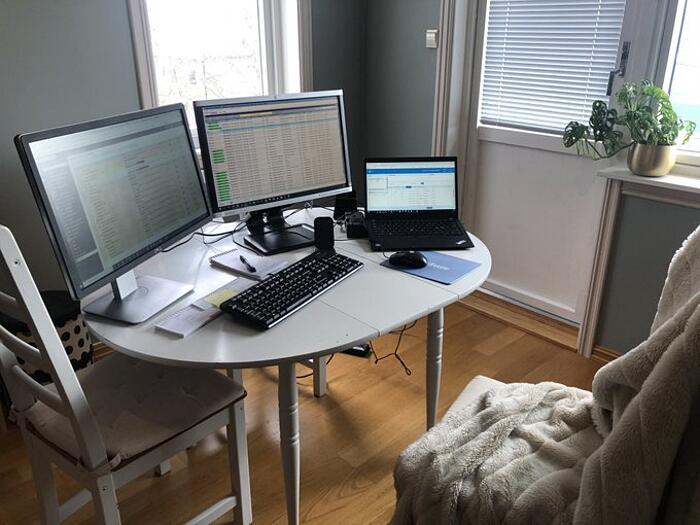 Postazioni di lavoro a casa improvvisate