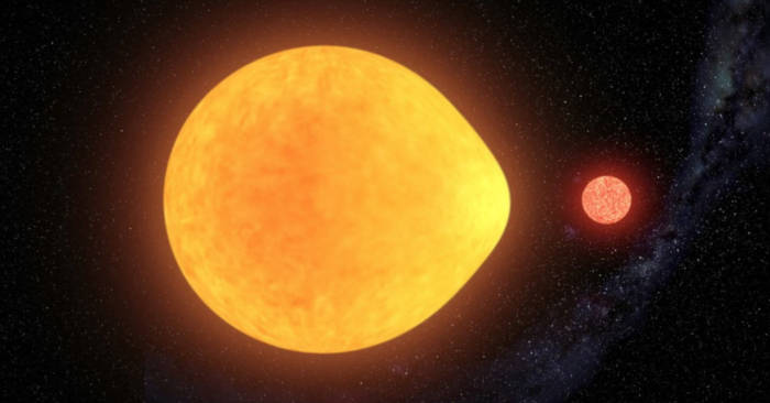 Una stella a forma di lacrima è stata scoperta da un gruppo di astronomi: