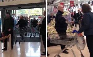 Operatori sanitari entrano in supermercato e scatta l'applauso di tutti