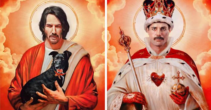 Artista immagina i personaggi della cultura pop se fossero dei santi (22 immagini)