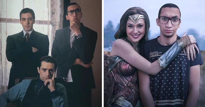 Ragazzo si photoshoppa con le celebrità, ecco il risultato (27 foto)