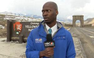Giornalista vede arrivare una mandria di bisonti e dà una lezione di distanziamento sociale