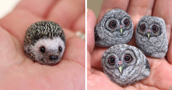Artista dà vita alle pietre trasformandole in piccoli adorabili animali (30 nuove foto)