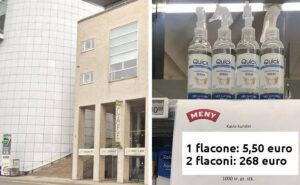 """Supermercato in Danimarca applica prezzi """"creativi"""" all'igienizzante per mani per fermarne l'incetta"""