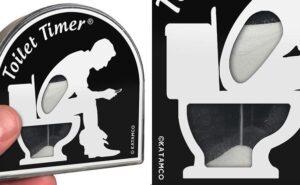 Da oggi, puoi regalare una clessidra da toilette alle persone che passano troppo tempo in bagno