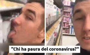 Arrestato 26enne che si filmava mentre leccava le merci del supermercato