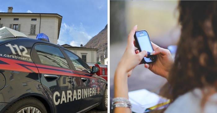 12enne chiama i carabinieri: