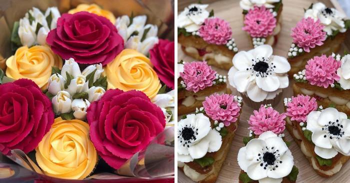 Decorazioni floreali per torte e cupcake che sono un inno alla primavera