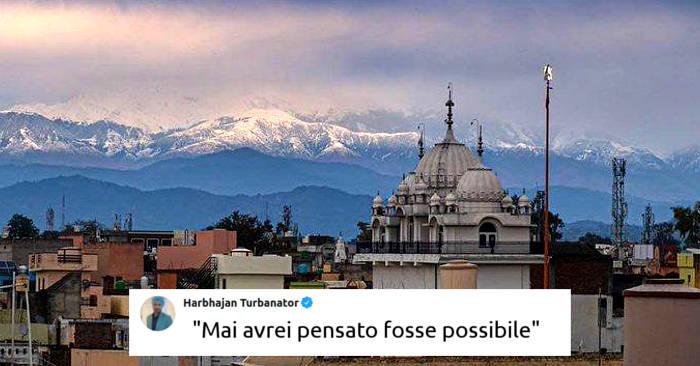 L'Himalaya torna visibile dall'India grazie all'assenza di smog per il lockdown da coronavirus