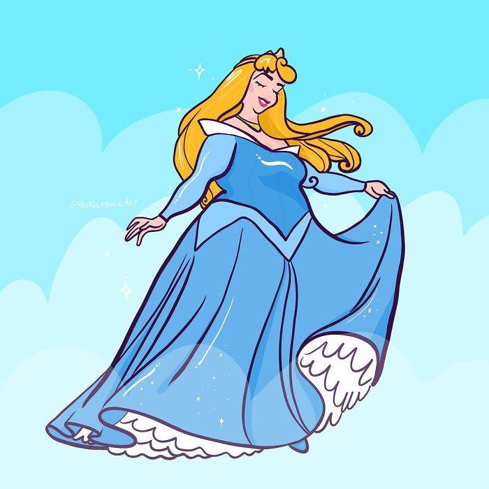 Principesse Disney in sovrappeso, Crystal Procknow