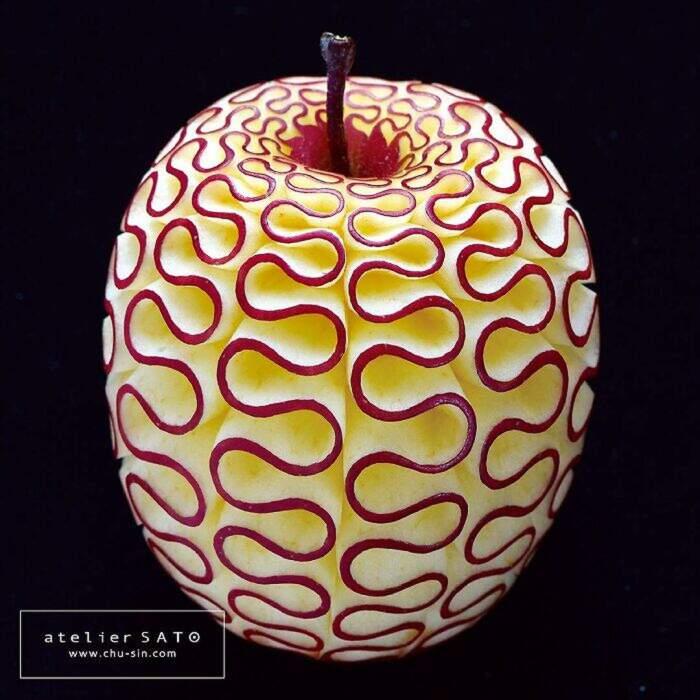 Artista giapponese intaglia frutta e verdura trasformandole in opere d'arte (32 foto)