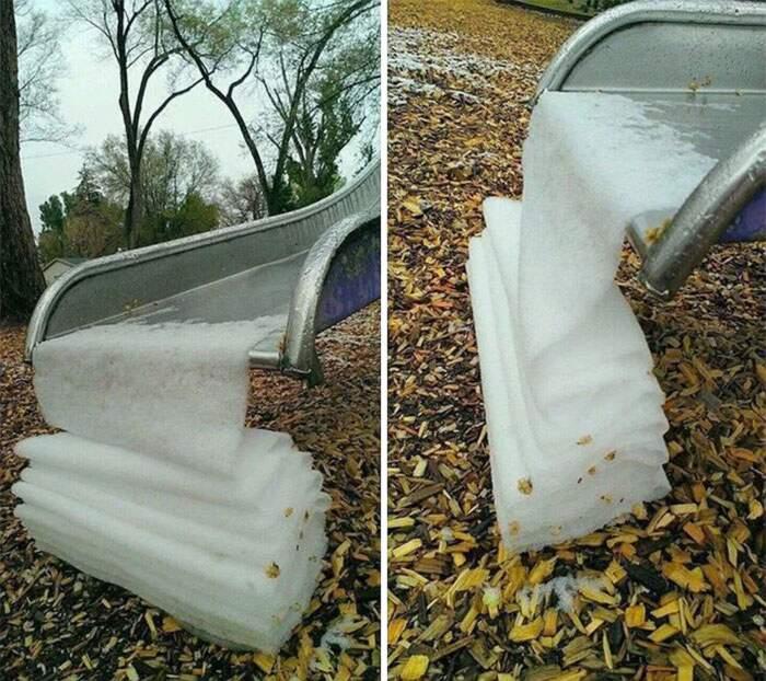 Quando la neve crea formazioni così impeccabili da soddisfare qualsiasi perfezionista (54 foto)
