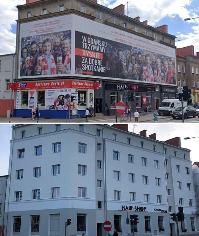 La Polonia rimuove i grandi cartelloni pubblicitari e le città ringraziano (30 foto prima e dopo)